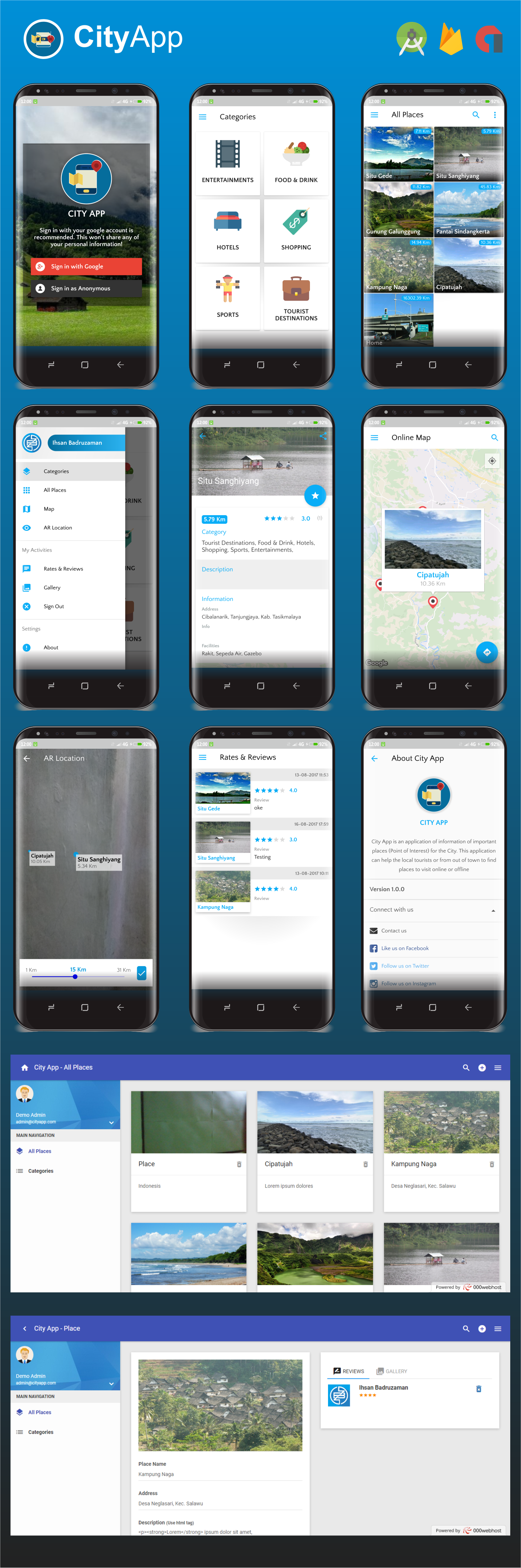 City App (Firebase, Admob, Augmented Reality) Download
