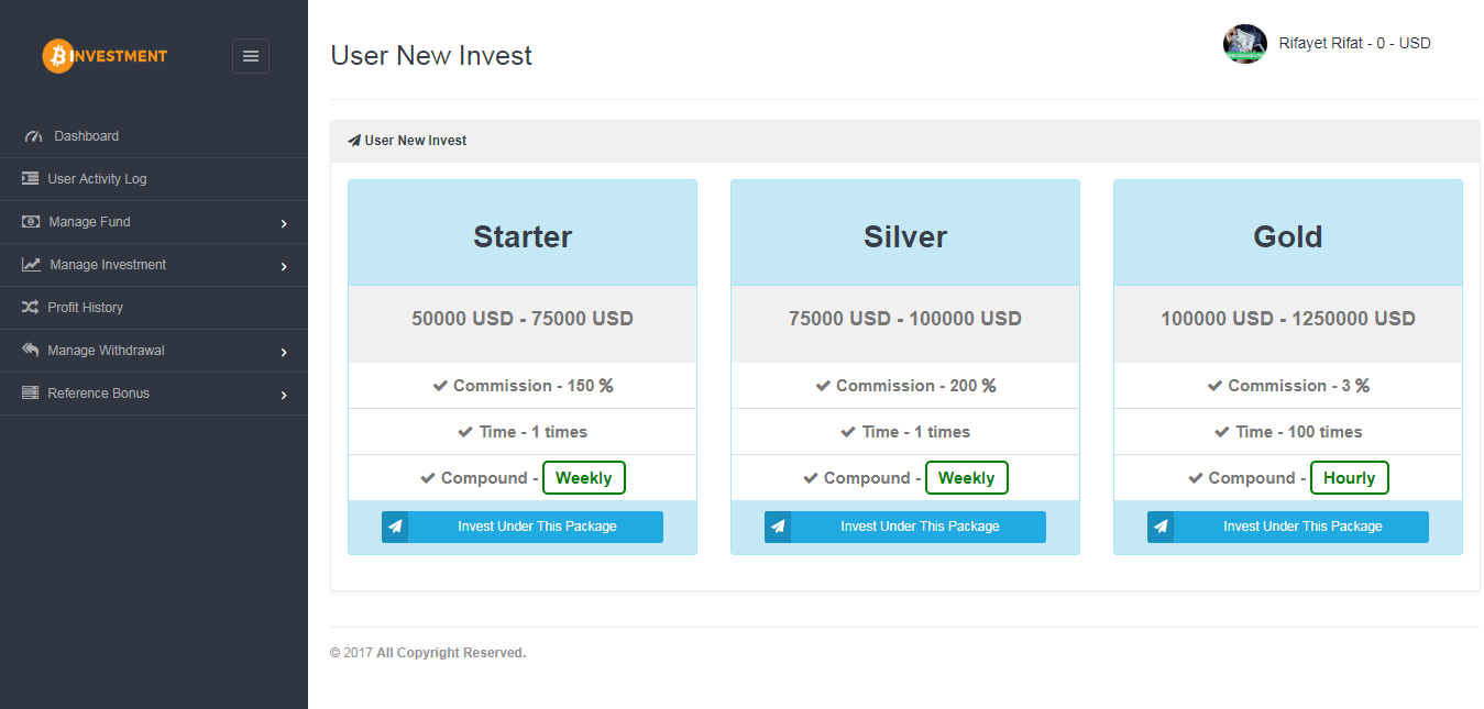 Cryptotrade Bitcoin Investment Platform By Rifat636