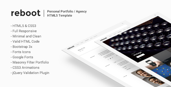 Reboot - Personal Portfolio / Agency Template