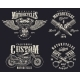 Set of Custom Motorcycle Emblems - GraphicRiver Item for Sale