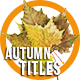 Autumn Titles 2