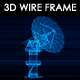 Satellite Dish 3D Wireframe - VideoHive Item for Sale