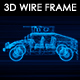 Military Car 3D Wireframe - VideoHive Item for Sale