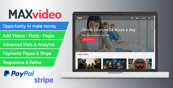 CodeCanyon Responsive Courses Subscription MAXvideo 20495455