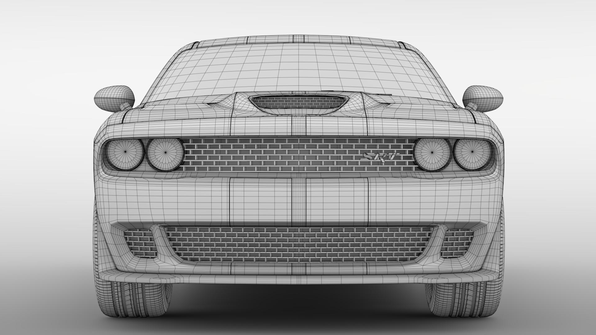 Dodge Challenger Srt Hellcat Go Mangoo 2017 By Creator 3d 3docean