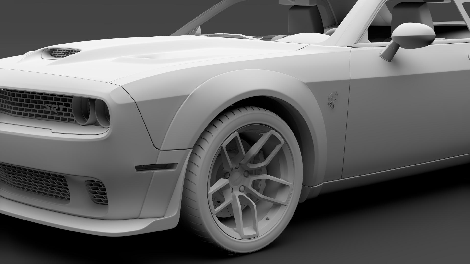 Dodge Challenger Srt Hellcat Widebody 2018 By Creator 3d