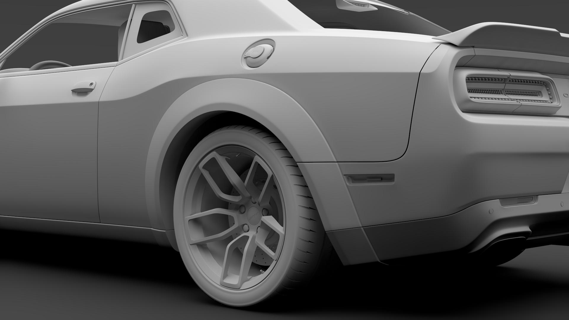 Dodge Challenger Srt Hellcat Widebody 2018 By Creator 3d 3docean