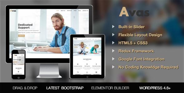 Avas - Responsive Multi-Purpose WordPress Theme