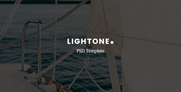 LightOne – Creative One Page PSD Template - PSD Templates
