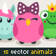Vector Girlish Animals - GraphicRiver Item for Sale