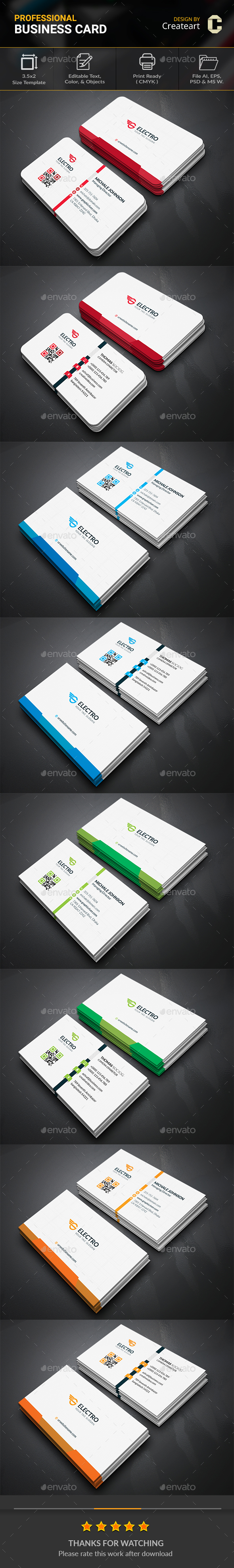 GraphicRiver Business Card Bundle 20496180