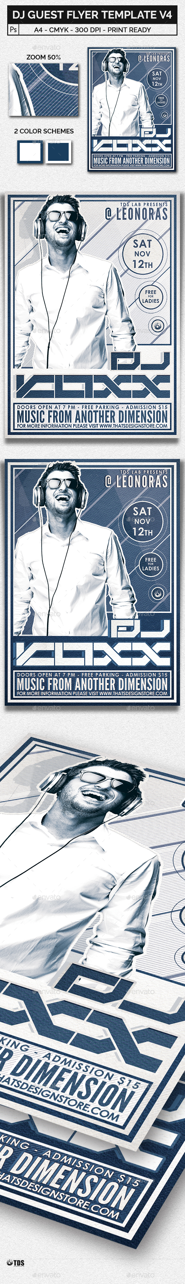 DJ Guest Flyer Template V4 - Clubs & Parties Events
