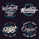 Typography Badges And Labels Vol.3