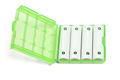 Rechargeable Batteries in Green Plastic Case - PhotoDune Item for Sale