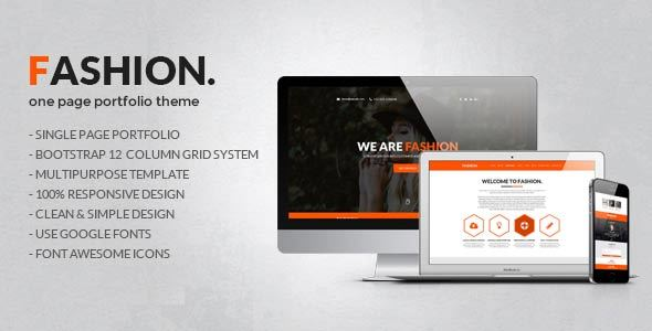 Fashion One Page Portfolio Template