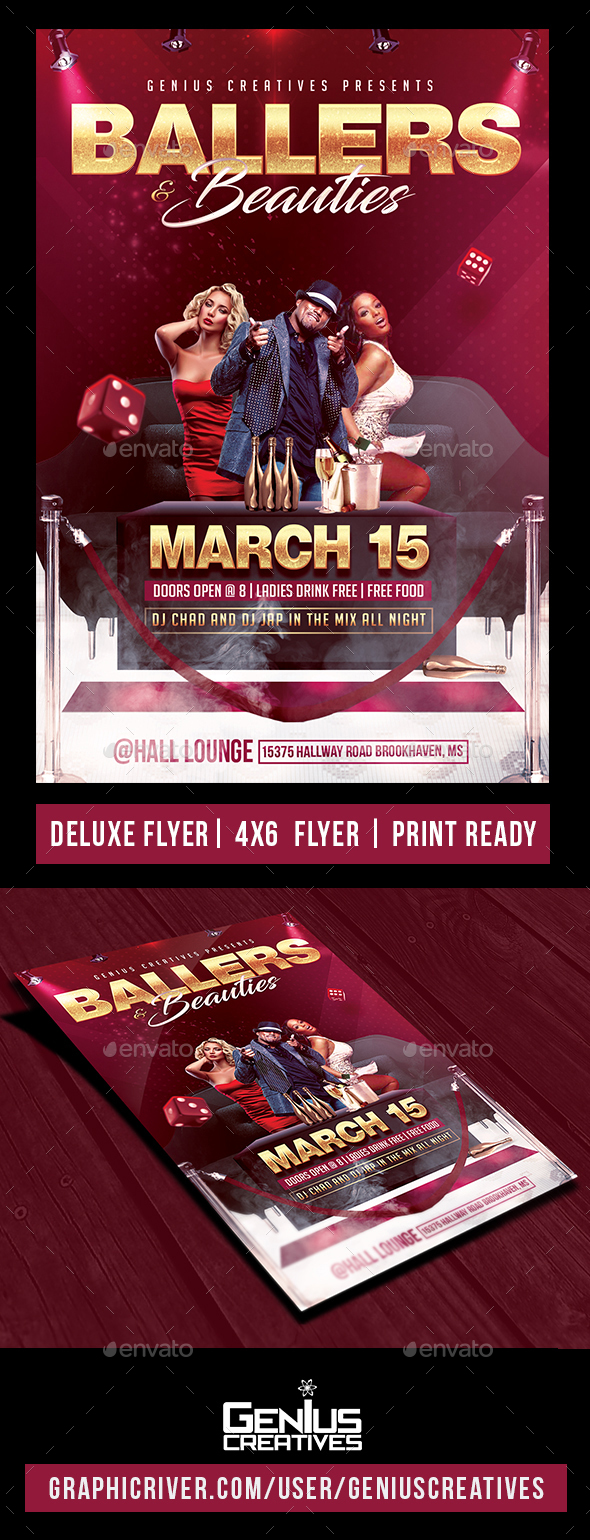 VIP Deluxe Party Flyer - Events Flyers
