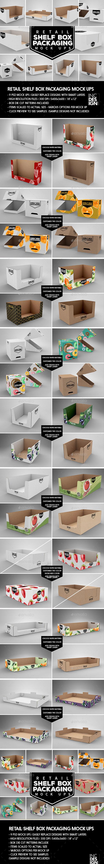 Retail Shelf Box Packaging MockUps