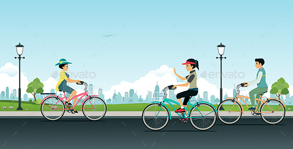 Bicycle in the Garden - Sports/Activity Conceptual