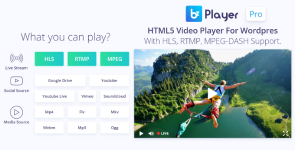 bzplayer Pro - Live Streaming Player WordPress Plugin - CodeCanyon Item for Sale