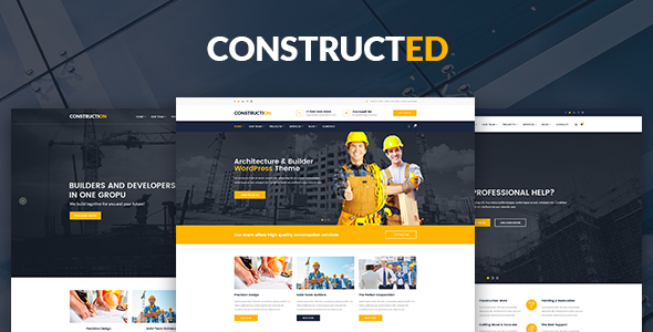 ThemeForest Constructed Construction and Building WordPress Theme 20335385