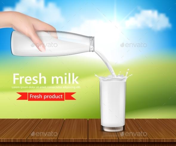 Background Fresh Milk - Food Objects
