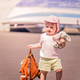 Little cute girl carrying her doggy backpack - PhotoDune Item for Sale