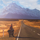 Cycling towards Mount Cook - PhotoDune Item for Sale