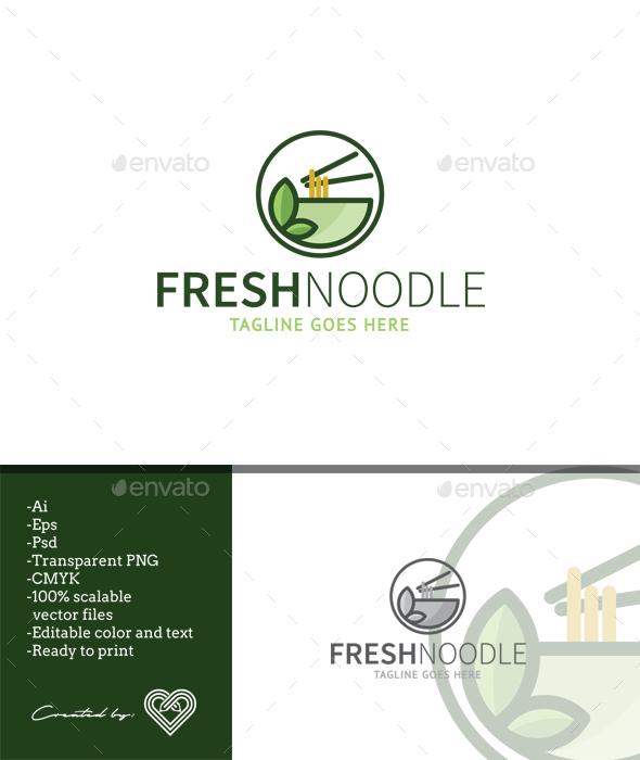 Fresh Noodle - Food Logo Templates