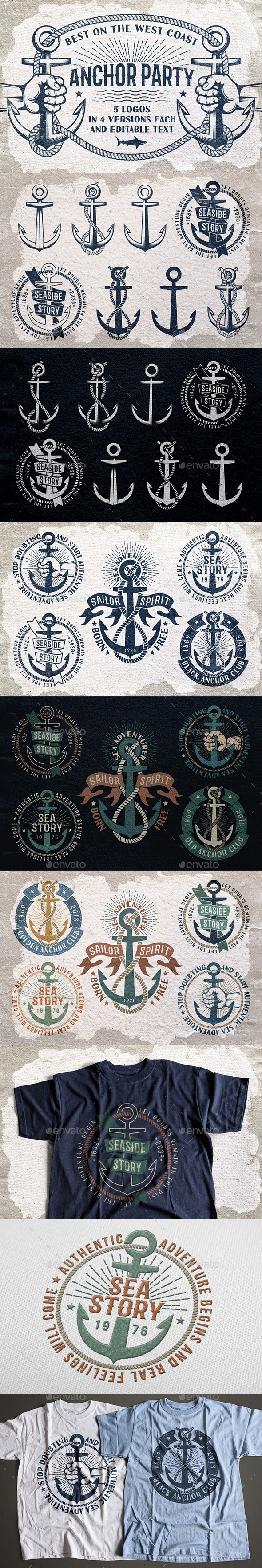 Anchor Nautical Symbols - Travel Conceptual