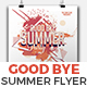 Good Bye Summer Party Flyer