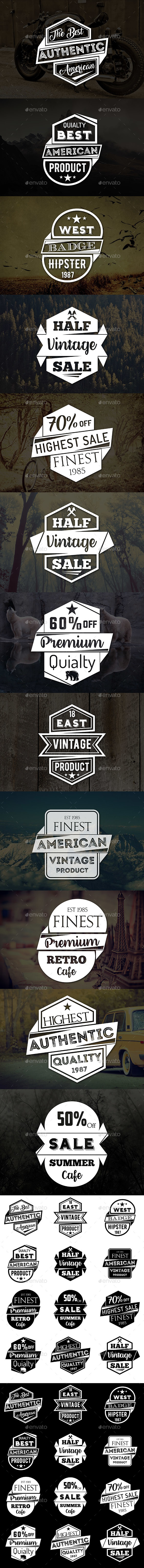 GraphicRiver Vintage Badges & Logos 20496885