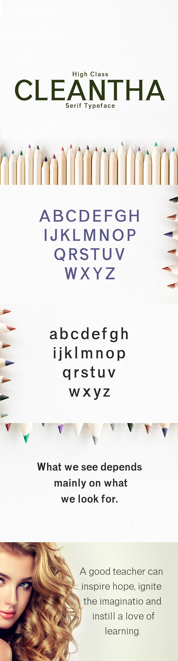 Cleantha Serif Typeface - Serif Fonts