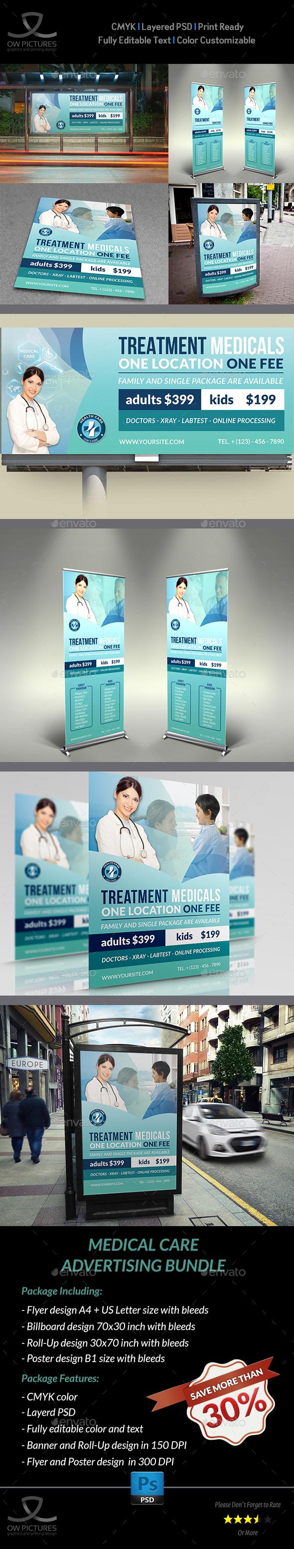 Medical Care Advertising Bundle Vol.2 - Signage Print Templates