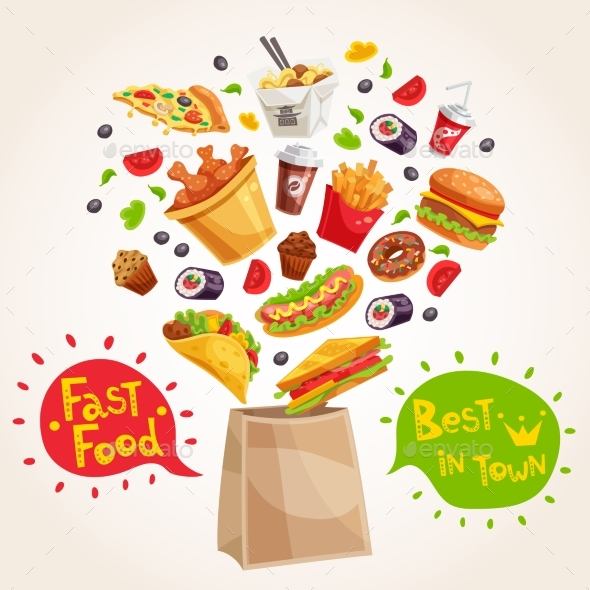 Fast Food Advertising Composition - Business Conceptual