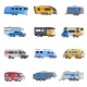 Camping Vehicles Icon Set