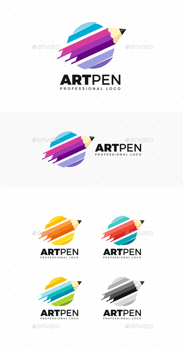 GraphicRiver Art Pen Logo 20497133