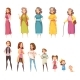 Women Generation Decorative Icons Set