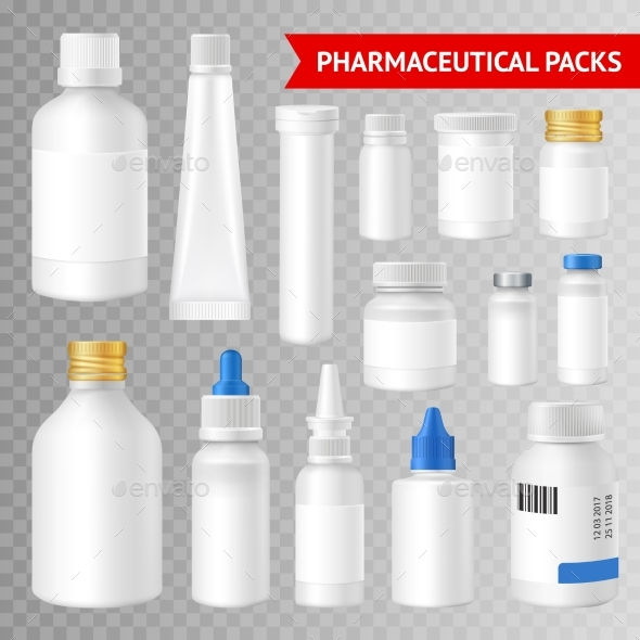 Pharmaceutical Packaging Realistic Transparent - Backgrounds Decorative