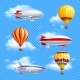 Airship Icon Set