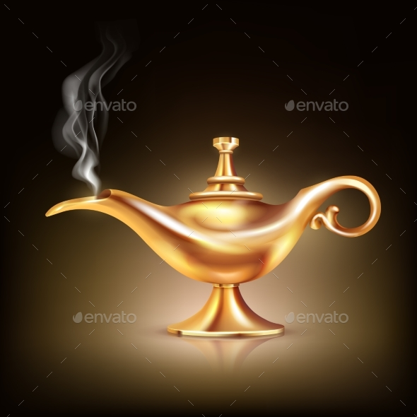 Aladdin Vessel Smoke Composition - Objects Vectors
