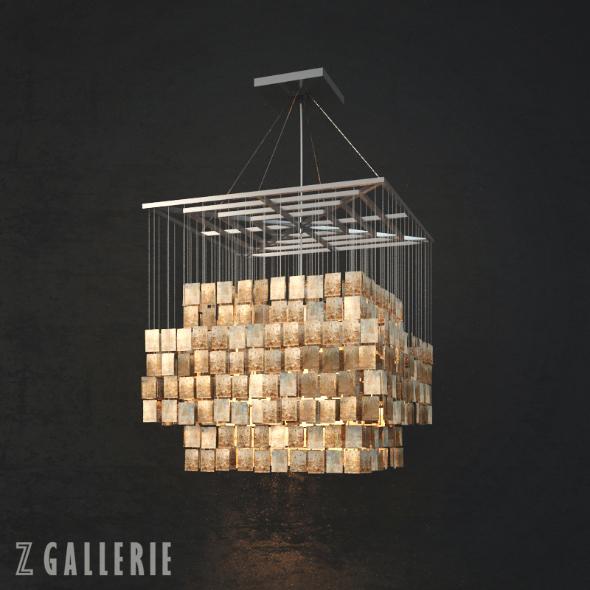 3DOcean Z Gallerie Capiz Chandelier 20497307