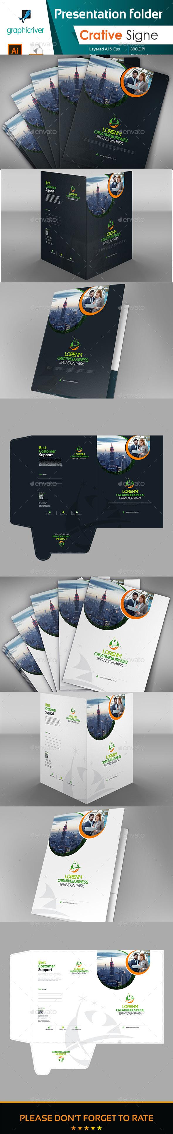 Corporate Folder Presentation - Stationery Print Templates