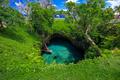 To Sua ocean trench - famous swimming hole, Upolu, Samoa