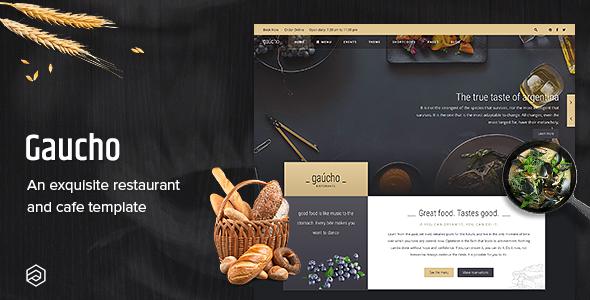 Gaucho Restaurant - Responsive & Cafe Bistro Restaurant HTML Template - Restaurants & Cafes Entertainment