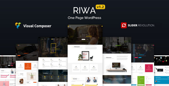 Riwa - One Page WordPress Theme