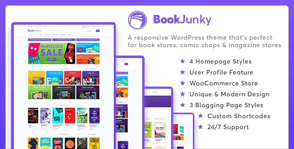 bookjunky - woocommerce book store for wordpress (woocommerce) BookJunky – WooCommerce Book Store for WordPress (WooCommerce) preview