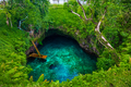 To Sua ocean trench - famous swimming hole, Upolu, Samoa, South - PhotoDune Item for Sale