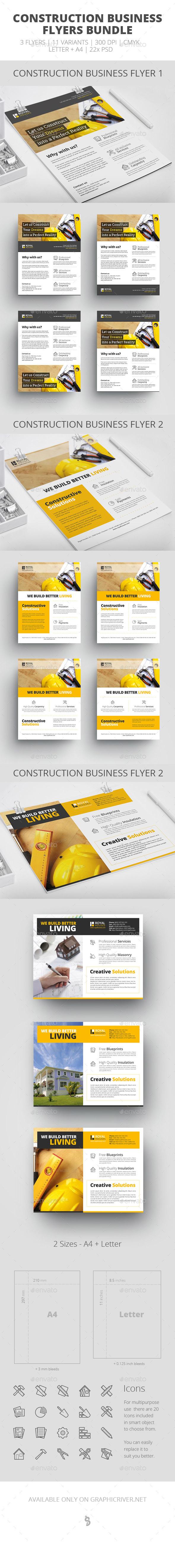 Construction Business Flyer - Bundle - Corporate Flyers