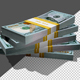 100 Dollars Bills Rotating with Shadow - VideoHive Item for Sale