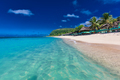 Lalomanu beach with open huts called fales, south side of Upolu, - PhotoDune Item for Sale